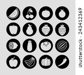 food icons   Shutterstock .eps vector #243412369