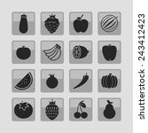 food icons | Shutterstock .eps vector #243412423