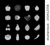 food icons | Shutterstock .eps vector #243412558
