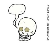 cartoon spooky skull | Shutterstock .eps vector #243413419