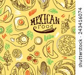 seamless pattern mexican food | Shutterstock .eps vector #243416074