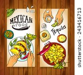 banners with mexican food | Shutterstock .eps vector #243416713