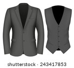 formal business suits for men ... | Shutterstock .eps vector #243417853
