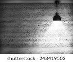 White Grunge Brick Wall And...
