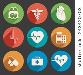 vector set of medical icons | Shutterstock .eps vector #243420703