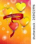 happy valentine s day with... | Shutterstock .eps vector #243421996