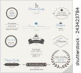 vector set of retro labels | Shutterstock .eps vector #243423784