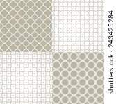 collection of patterns | Shutterstock .eps vector #243425284