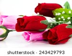 valentines day background with... | Shutterstock . vector #243429793