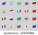 flags of the twenty states | Shutterstock .eps vector #243429886