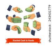 hand poses giving  taking or... | Shutterstock .eps vector #243431779