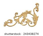 old antique gold frame stucco... | Shutterstock . vector #243438274