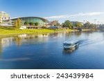 downtown area of adelaide city... | Shutterstock . vector #243439984