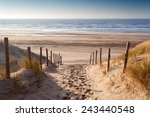 sand path to north sea at... | Shutterstock . vector #243440548