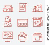 office life icons  thin line... | Shutterstock .eps vector #243447574