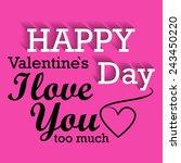 happy valentines day vector... | Shutterstock .eps vector #243450220