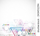 abstract technology triangle... | Shutterstock .eps vector #243451294