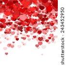 valentines day background | Shutterstock .eps vector #243452950