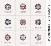 ornamental logo template set.... | Shutterstock .eps vector #243460048