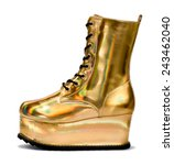 Golden Alien Shoe With A Shiny...