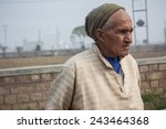 old man sitting after work | Shutterstock . vector #243464368