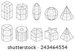 outline set of geometric shapes ... | Shutterstock .eps vector #243464554