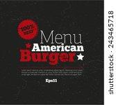 menu  logo design  background... | Shutterstock .eps vector #243465718