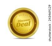 discount deal golden vector...   Shutterstock .eps vector #243469129