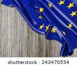 europe eu flag with vertical... | Shutterstock . vector #243470554