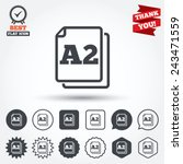 paper size a2 standard icon.... | Shutterstock .eps vector #243471559