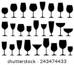 set of isolated wine and... | Shutterstock . vector #243474433