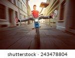 pizza guy | Shutterstock . vector #243478804