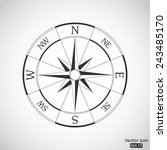 wind rose compass vector icon | Shutterstock .eps vector #243485170
