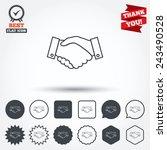 handshake sign icon. successful ...   Shutterstock .eps vector #243490528
