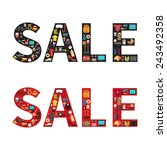sale discount sign. shopping... | Shutterstock .eps vector #243492358