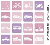 vector set of pink water icons | Shutterstock .eps vector #243492859