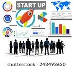 business people start up...   Shutterstock . vector #243493630