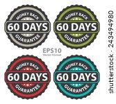 60 days money back guarantee on ... | Shutterstock .eps vector #243494980
