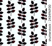 vector seamless floral pattern. ... | Shutterstock .eps vector #243496930