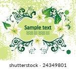 flower frame | Shutterstock .eps vector #24349801