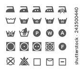 set of washing symbols. laundry ... | Shutterstock .eps vector #243500440