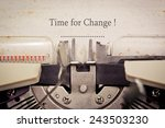 time for change | Shutterstock . vector #243503230