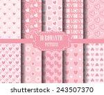 set of heart seamless  patterns ... | Shutterstock .eps vector #243507370