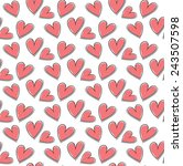 heart seamless pattern  for... | Shutterstock .eps vector #243507598