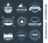 set of vintage camping and... | Shutterstock .eps vector #243508168