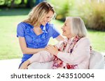 Affectionate Granddaughter And...