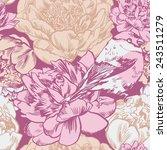vector hand drawn seamless... | Shutterstock .eps vector #243511279