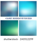 4 abstract colorful smooth... | Shutterstock .eps vector #243512299