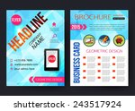 corporate business stationery... | Shutterstock .eps vector #243517924