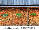 Chopped Wood Stack Decorated...